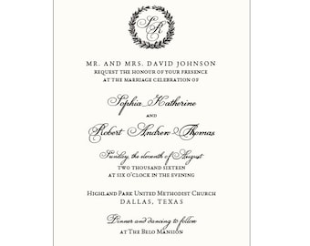 CLASSIC - Ready to Order Invitation Collection
