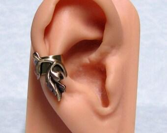 Forest Filigree Leaf Ear Cuff
