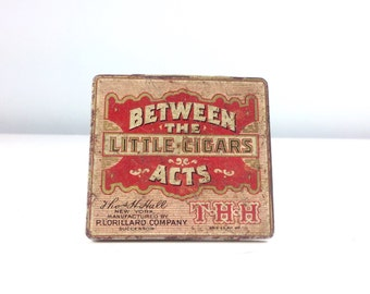 Vintage Between the Acts Little Cigar Tin, Metal Tin Box, Vintage Advertising, Tobacco Sign Advertising, Cigarette Box, Fathers Day Gift