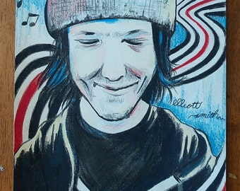 "9"" x 12"" Elliott Smith Portrait"