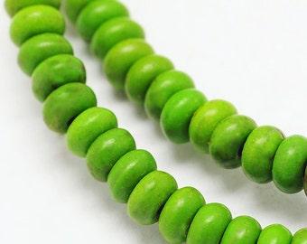 158 Abacus Beads Howlite 4mm x 2mm Full Strand Rondelle Beads - BD1007