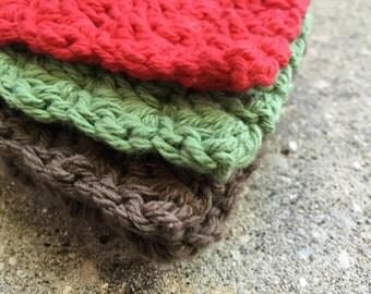 The Cabin Crocheted Cotton Dishcloths