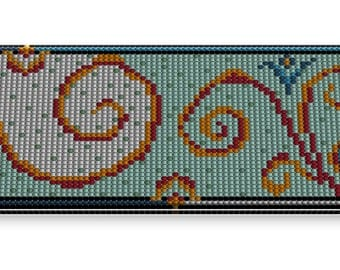 Loom Beading Pattern, Square Stitch, Bracelets Digital Pattern, Peyote Template, Cuff, Peyote Square, Peyote Bracelet Pattern