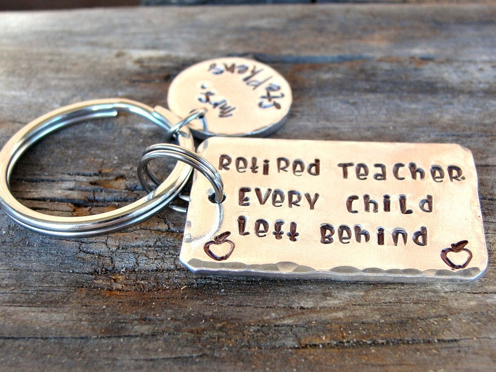 Retired Teacher - Retirement Gift - Teacher Keychain - Funny