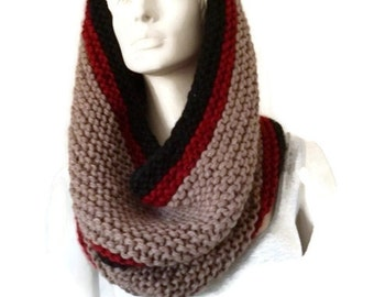 Womens Oversized Cowl, Knit Infinity Scarf, Hooded Scarf, Womens Snood, Oversized Cowl