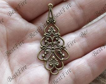 10pcs Antique Brass Filigree Jewelry Connectors Setting,Connector Findings,Filigree Findings,Flower Filigree