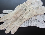 Vintage Crochet Lace Gloves