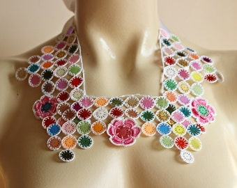 Crochet Necklace with Sequin