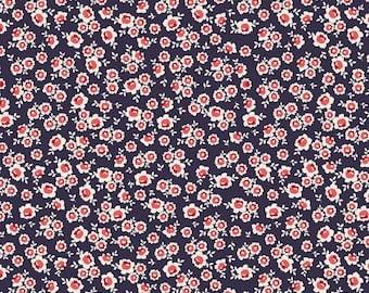 La Vie Boheme roses NAVY- 1/2 yard