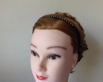 Black hair band, crystal stone, women accessories, bridal hair,wedding hair,bridal accessories,bridesmaid hair
