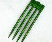 Four Prong Hair Fork made from Tahitian Jadewood DymondWood-  Very durable. Water resistant.