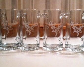 Beer Mugs, Deer Decor, Hunting Wedding, Wedding Gifts, Camo Wedding, Groomsmen Gifts