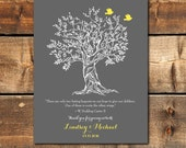 Roots and Wings Poem, Hodding Carter Jr., Thank You Wedding Gift for Our Parents, Parents Thank You Gift, Parents Gift, Tree with Love Birds