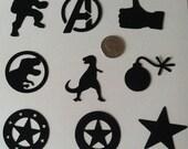 "Custom for Lauren, 2"" Symbols Die Cut Collection, Multi-color"