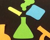 Mad Scientist Confetti Beaker Microscope TestTube Table Sprinkles Science Theme Party Decor