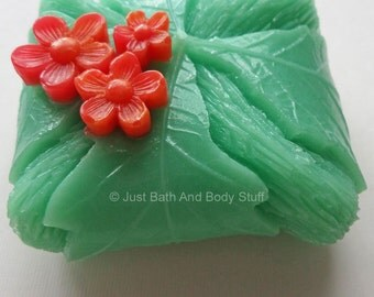 Leaf Soap, Leaves and Flowers Soap, Tropical Soap, Novelty Soap, Bath Soap, You pick scent & color