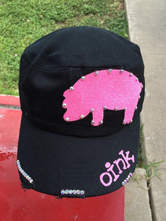 Stock Show Swine, Fair Project Livestock Market Pig Show Mom Hog Wild Womens Baseball Cap Trucker Cadet Cap