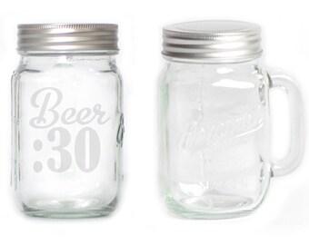 Mason Jar  Mug - 15 oz. small  2651 Beer :30