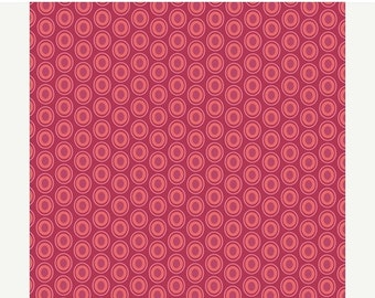 ON SALE - Oval Elements in CRANBERRY (Oe-913) - Pat Bravo for Art Gallery Fabrics - By the Yard