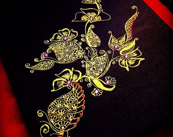 Henna Canvas Painting