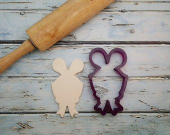 Mr. Whiskers the Bunny Rabbit Cookie Cutter and Fondant Cutter and Clay Cutter