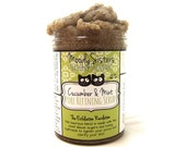 Facial Scrub - with Cucumber and Mint natural exfoliation with organic sugar and witch hazel
