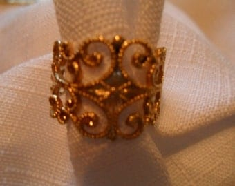 Vintage Gold Vermeil Ring Ajustable made by Sara Coventry