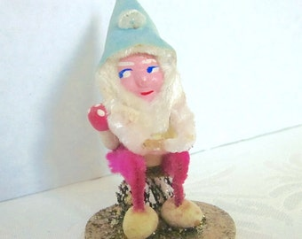 Gnome, Elf, Pixie, Christmas Decoration, Vintage, Pine Cone elf,  Ornament, 1950s