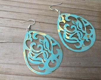 LARGE Mint Earrings- BOLD earrings