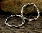 Large Artisan Jump Ring - Sterling Silver Circle Link -  Boho Connectors - Pendants -  Charm Holders  AC179