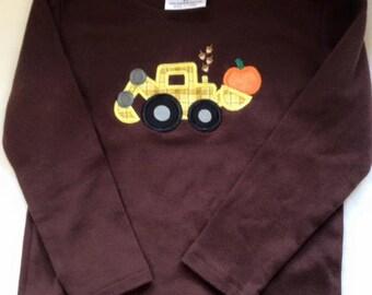 Autumn Thanksgiving Bucket Loader Truck Shirt