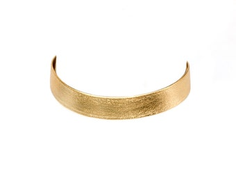Leather Choker - Gold