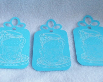 Fall Pumpkin gift tags Hand stamped die cut by DawnFrostDesigns