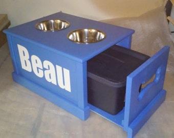 Personalized dog feeding station