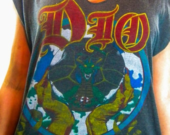 Vintage Dio shirt 80s Black Sabbath Iron Maiden Danzig Slayer Metallica 80s tee 80s shirt Metal Iron Maiden Tee Dio Tee Dio shirt Punk Rock