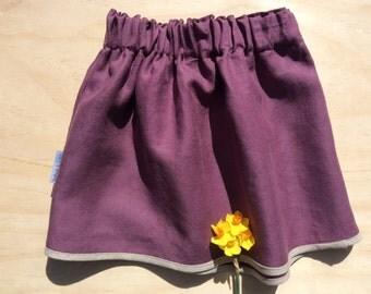 Plum Linen skirt