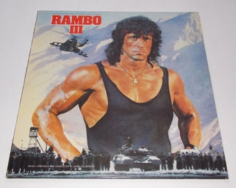 1988 - Rambo 3 - Original Motion Picture Soundtrack - LP Vinyl Record Album - Sylvester Stallone / 80's / Hollywood