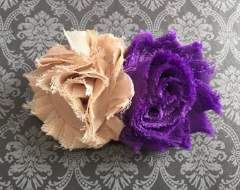 Purple and Tan Headband