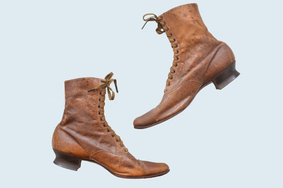 Pandora Victorian Brown Leather Boots