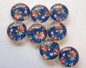 10pcs 12mm Handmade Flower Glass Photo Cabochons PC360-12