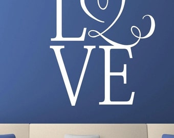 15% OFF LOVE  -Vinyl Lettering wall words graphics Home decor itswritteninvinyl