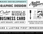 RESERVED FOR KELLY - Discounted Made to Order Custom Single-Sided Business Card Design