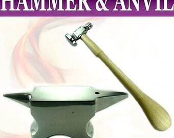Mazbot Jeweler Dome Face Chasing Hammer Miniature Anvil  JSET31