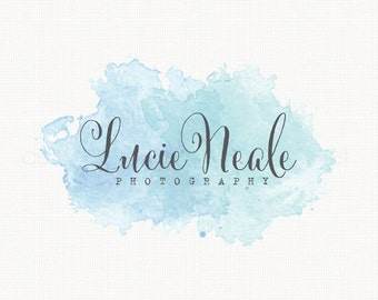 Custom Premade Photography Logo - Watercolor Logo Watermark Logo Hand Drawn Small Business Logo