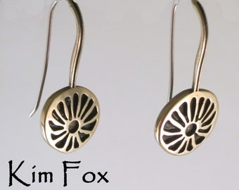 Gift of Love Earring in Golden Bronze and Sterling Silver- light and comfortable - noticeable but not overbearing