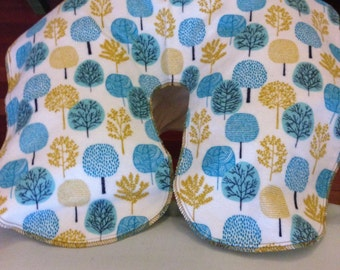 Handmade Massage Table Face Cradle Covers - Deciduous Forest- Organic Cotton Flannel