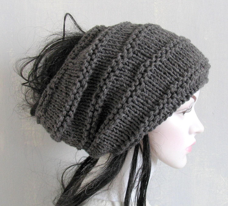 Black Slouchy Beanie Dreadlock Tam Winter Beanie by ... Dreadlock Hats For Men