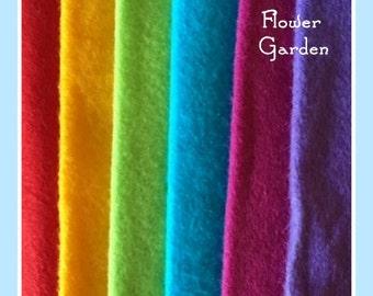 Flower Garden 9x12 Wool Felt Felt Pack