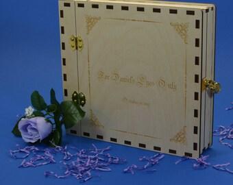Boudoir Album with Mini Padlock 8X8