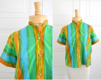 1960s Brushstroke Print Shirt